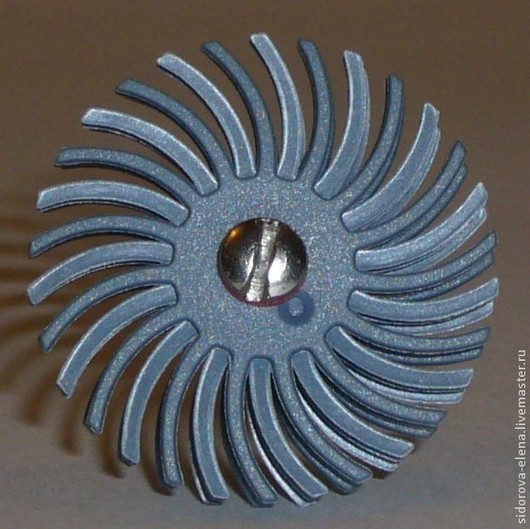 Другие виды рукоделия ручной работы. Ярмарка Мастеров - ручная работа. Купить Абразивно-полимерная щетка малая финишная. Handmade.