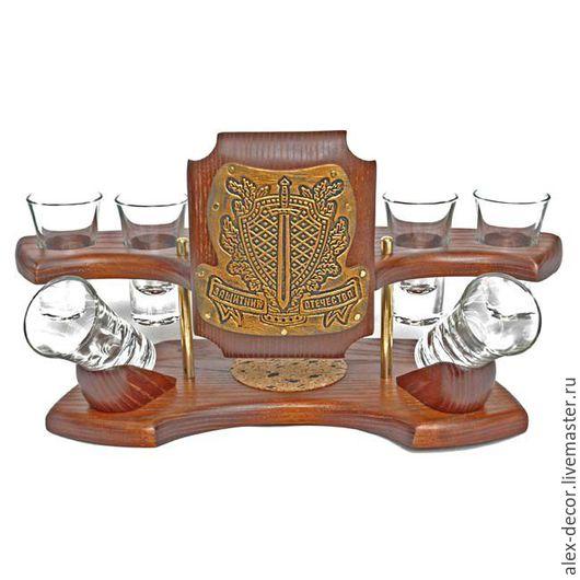 """Подарки для мужчин, ручной работы. Ярмарка Мастеров - ручная работа. Купить Мини-бар водочный """"Защитник отечества"""" (золото). Handmade."""