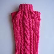 Для домашних животных, ручной работы. Ярмарка Мастеров - ручная работа Малиновый свитер для собачки или кошки. Handmade.