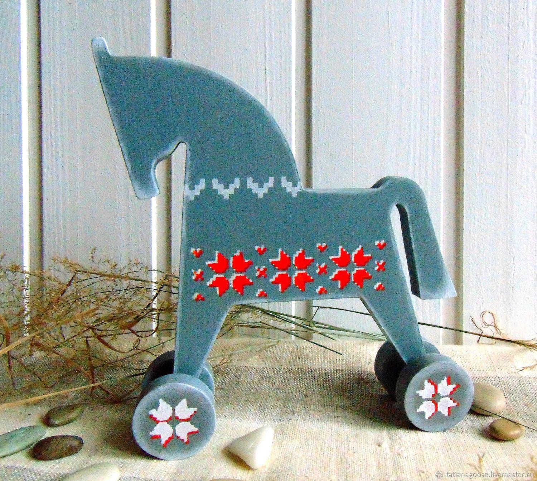 Лошадка деревянная на колесиках Северянка, Игрушки, Нижний Новгород,  Фото №1