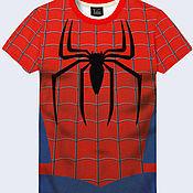 """Одежда ручной работы. Ярмарка Мастеров - ручная работа Мужская футболка """"Человек-паук"""". Handmade."""