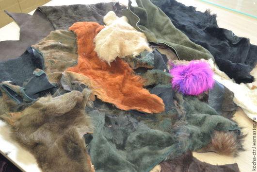 Шитье ручной работы. Ярмарка Мастеров - ручная работа. Купить Куски меха овчина. Handmade. Коричневый, мех натуральный
