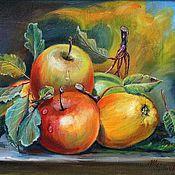Картины и панно ручной работы. Ярмарка Мастеров - ручная работа Спелые яблоки. Handmade.