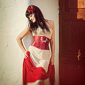 """Одежда ручной работы. Ярмарка Мастеров - ручная работа Корсет из атласа """"любимый цвет"""". Handmade."""