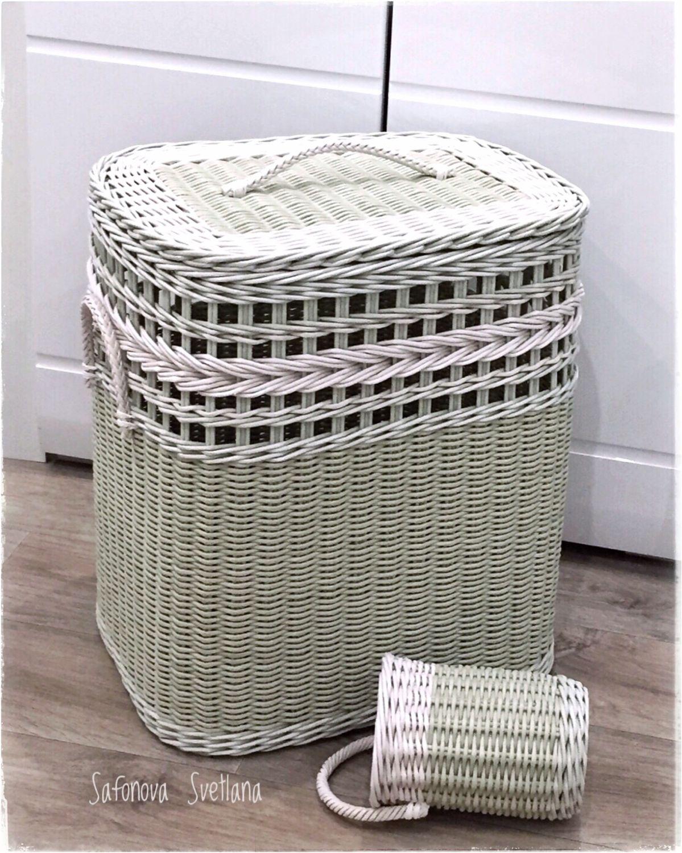 Плетеная корзина для белья «Оливковая роща» – заказать на Ярмарке Мастеров – KJBMERU | Корзины, Екатеринбург