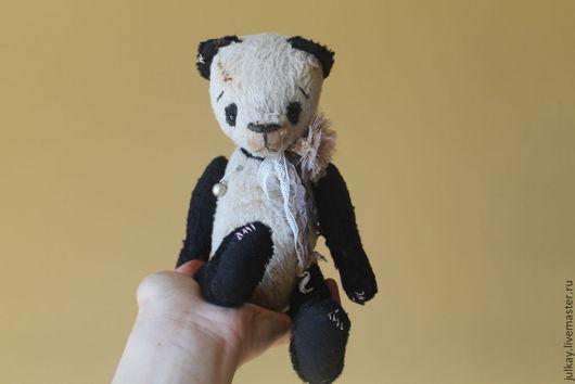 Мишки Тедди ручной работы. Ярмарка Мастеров - ручная работа. Купить Пандочка. Handmade. Чёрно-белый, мишки тедди, синтепух