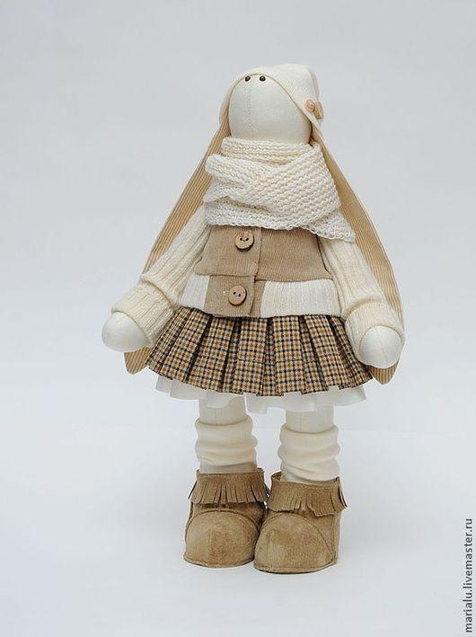 Куклы Тильды ручной работы. Ярмарка Мастеров - ручная работа. Купить Зая в бежевых тонах. Handmade. Белый, подарок женщине