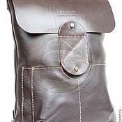 Backpacks handmade. Livemaster - original item Backpack leather brown Space. Handmade.