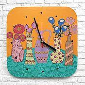 Для дома и интерьера handmade. Livemaster - original item Kitchen wall clock Flowers. Cheerful still life. Handmade.