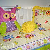 Комплект белья в кроватку ручной работы. Ярмарка Мастеров - ручная работа Постельное белье в детскую кроватку. Handmade.