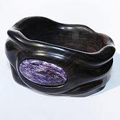 Украшения handmade. Livemaster - original item Bracelet made of wood with charoite