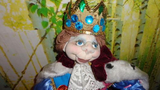 Сказочные персонажи ручной работы. Ярмарка Мастеров - ручная работа. Купить Текстильная кукла. Король из сказки Андерсена. Handmade. парча