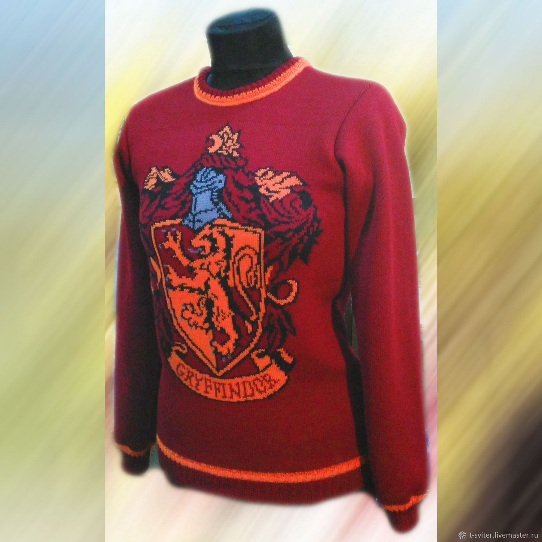 Тату-свитер - Факультет Гриффиндор, вариант 2, Свитеры, Москва,  Фото №1