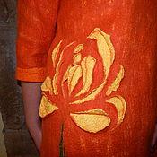 """Одежда ручной работы. Ярмарка Мастеров - ручная работа Авторскй валяный свитер """"Отцвели, уж, давно хризантемы в саду...). Handmade."""