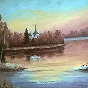 Картины и панно handmade. Livemaster - original item oil painting. landscape. Spring dreaming.. Handmade.