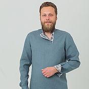 Рубашки ручной работы. Ярмарка Мастеров - ручная работа Мужская льняная рубашка Славная. Handmade.