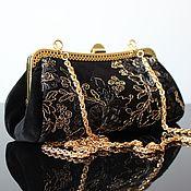 Сумки и аксессуары handmade. Livemaster - original item Velvet evening bag, black velvet bag, lace, black. Handmade.