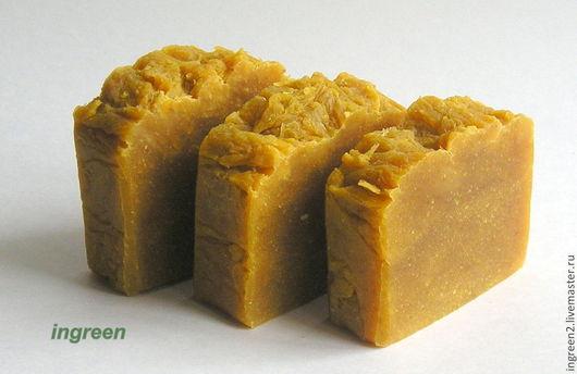 Мыло ручной работы. Ярмарка Мастеров - ручная работа. Купить Мыло тыквенное (натуральное мыло с нуля). Handmade. Оранжевый