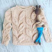Одежда ручной работы. Ярмарка Мастеров - ручная работа Джемпер с листьями на 2-3 года. Handmade.