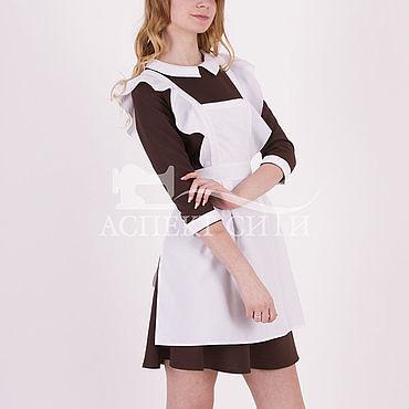 Товары для малышей ручной работы. Ярмарка Мастеров - ручная работа Школьный комплект, 14-456к, коричневое платье. Handmade.