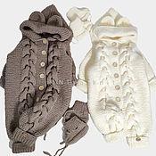 Одежда детская handmade. Livemaster - original item Jumpsuits: Knitted baby jumpsuit Teddy Bear. Handmade.