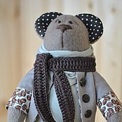 Куклы и игрушки ручной работы. Ярмарка Мастеров - ручная работа Мишки. Мишка кофейный. Handmade.