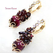 Украшения handmade. Livemaster - original item Earrings with garnet