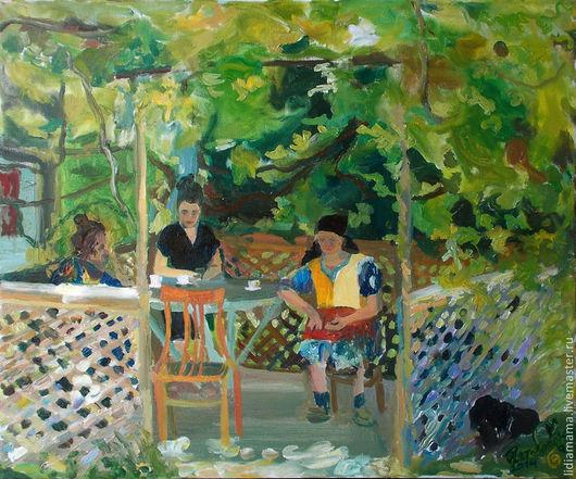 Картина. Абхазия. По чашечке кофе работа Ольги Петровской-Петовраджи
