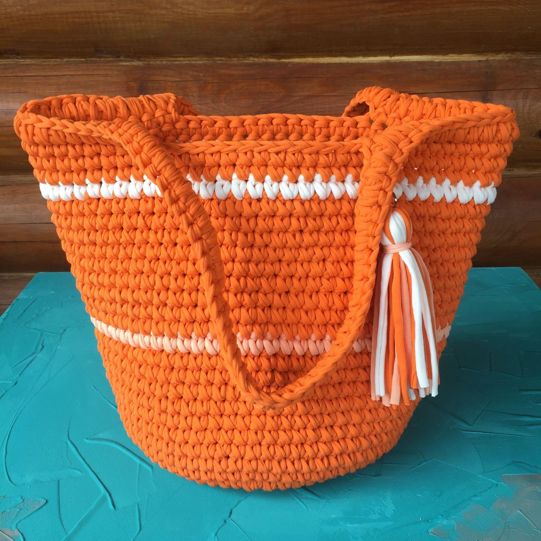 be45275bfce2 Купить Вязаная пляжная сумка Корзины, коробы ручной работы. Вязаная пляжная  сумка. СофилькО (sofilko). Интернет