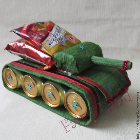 Персональные подарки ручной работы. Ярмарка Мастеров - ручная работа. Купить Танк. Handmade. Болотный, 23 февраля подарок, для шашлыков