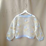 Одежда handmade. Livemaster - original item Silk Sweatshirt. Handmade.