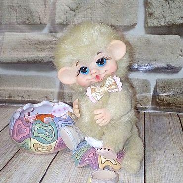 Куклы и игрушки ручной работы. Ярмарка Мастеров - ручная работа Тедди Зверята: обезьянка Чунга. Handmade.