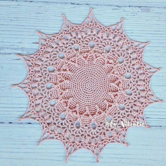Текстиль, ковры ручной работы. Ярмарка Мастеров - ручная работа. Купить Салфетка крючком светло-розовая. Handmade. Салфетка