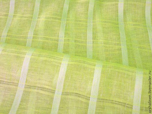Шитье ручной работы. Ярмарка Мастеров - ручная работа. Купить Льняная вуаль для декорирования окон. Handmade. Лимонный, лен