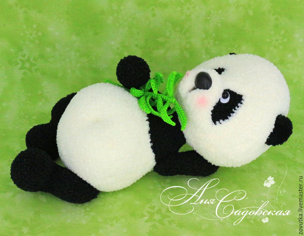 схема для вязания крючком панды