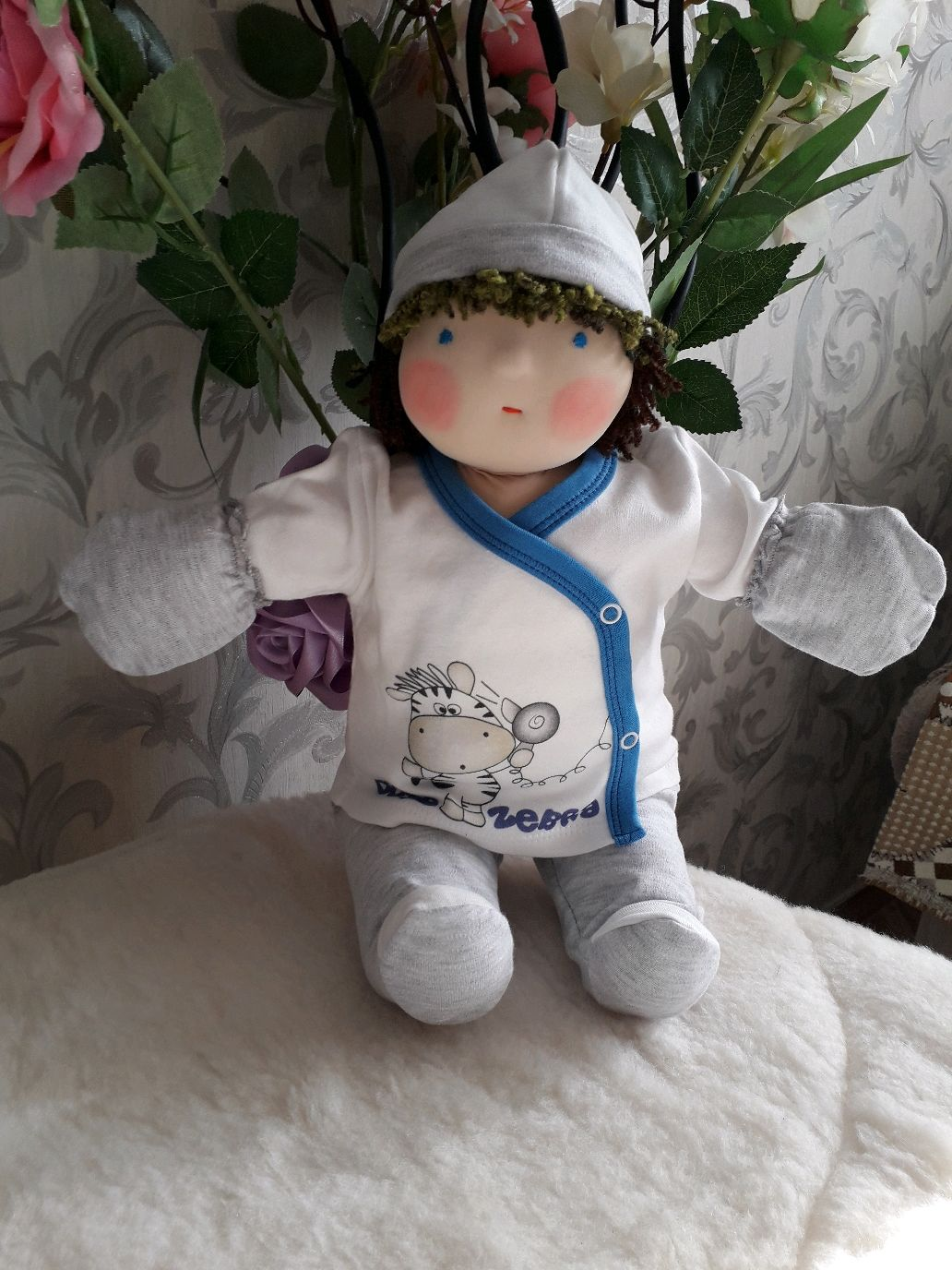 Вальдорфская кукла мальчик Сережа (43см), Вальдорфская игрушка, Киржач, Фото №1