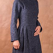 Одежда ручной работы. Ярмарка Мастеров - ручная работа Теплое твидовое платье. Handmade.