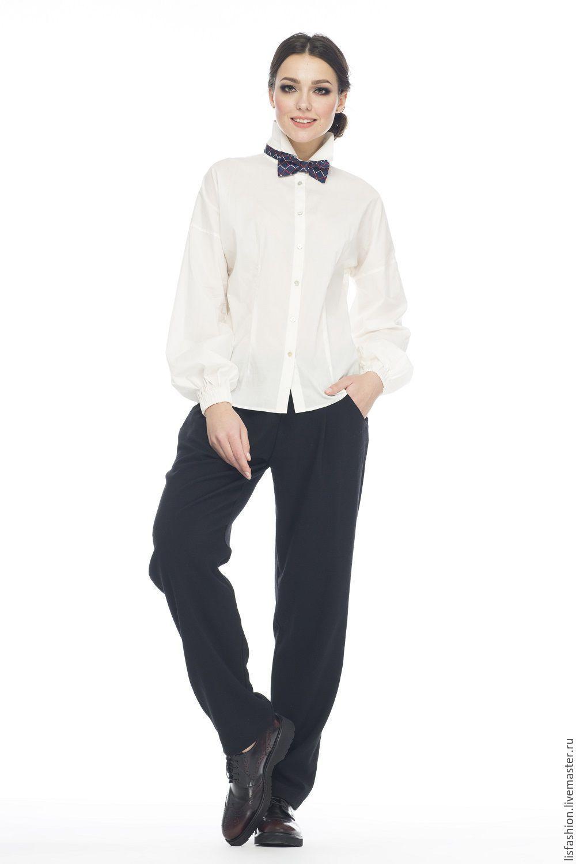 Блузка рубашка женская белая купить