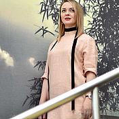 Одежда ручной работы. Ярмарка Мастеров - ручная работа Платье из тонкой итальянской шерсти персиковое. Handmade.