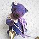 Мишки Тедди ручной работы. Маленький принц Лавандового королевства - коллекционный плюшевый мишка. Анна и Татьяна Мартыненко. Ярмарка Мастеров.