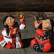 Куклы и игрушки ручной работы. Ярмарка Мастеров - ручная работа Танец с золотыми чашами. Handmade.