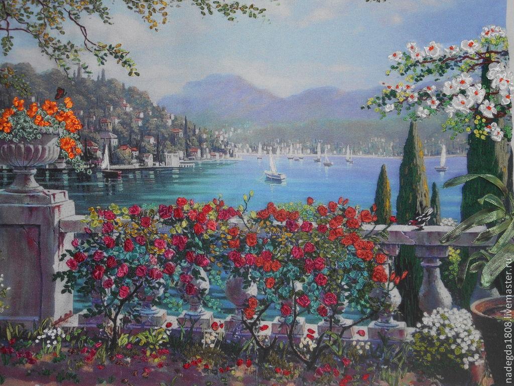 Вышивка лентами картины пейзажи 72