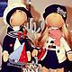 Куклы тыквоголовки ручной работы. Ярмарка Мастеров - ручная работа. Купить Интерьерные куклы   Грей и Асоль. Handmade. Тёмно-синий