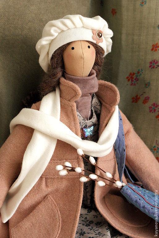 Куклы Тильды ручной работы. Ярмарка Мастеров - ручная работа. Купить Верба. Кукла в стиле тильда.. Handmade. Бледно-розовый