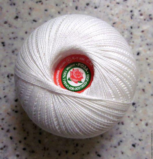 """Вязание ручной работы. Ярмарка Мастеров - ручная работа. Купить Нитки для вязания """"Роза"""". Handmade. Белый, 100% хлопок"""