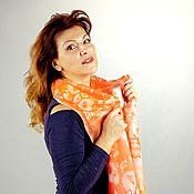 handmade. Livemaster - original item Silk scarf Splashes of color-orange. Handmade.
