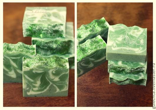 Мыло ручной работы. Ярмарка Мастеров - ручная работа. Купить МОЖЖЕВЕЛОВОЕ мыло с зеленой глиной. Handmade. Зеленый, мыло с нуля