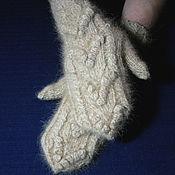 Аксессуары handmade. Livemaster - original item Women`s knitted mittens Cupid`s arrows. Handmade.