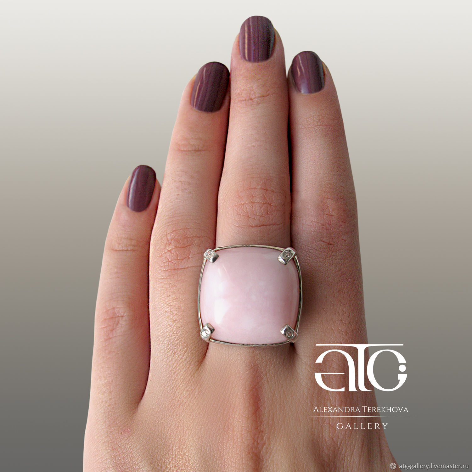 Ring with pink opal!