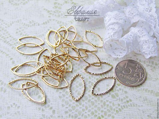 Для украшений ручной работы. Ярмарка Мастеров - ручная работа. Купить Коннектор, бусина кольцо, позолота Южная Корея. Handmade.